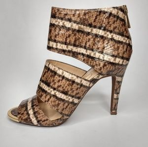 Jessica Simpson 6 Zippered Faux Snake Heels